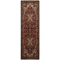 eCarpetGallery Royal Heriz Brown Wool Hand-knotted Rug (2'7x8'2)