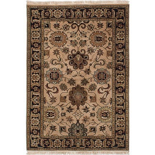 eCarpetGallery Hand-knotted Royal Kashan Brown Wool and Cotton Rug (4'0 x 5'10)