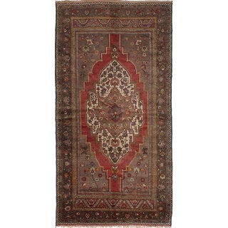 eCarpetGallery Anatolian Vintage Brown/Red Hand-knotted Wool Rug (6'6 x 12'6)