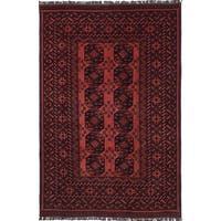 eCarpetGallery Hand-knotted Khal Mohammadi Brown/Red Wool Rug - 6'6 x 9'10
