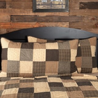 Black Primitive Bedding VHC Kettle Grove Sham Cotton