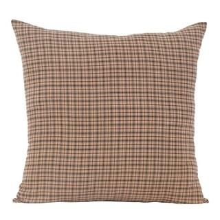 Tan Rustic Bedding VHC Millsboro Euro Sham Cotton Plaid