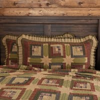 Tea Cabin Cotton Ruffled Standard Sham