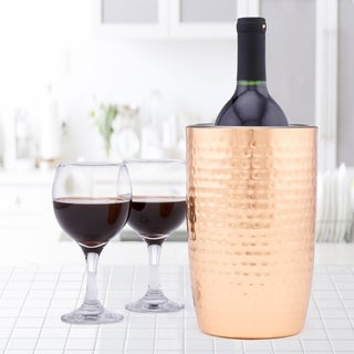 Aura Hammered Copper Double Walled Wine Cooler