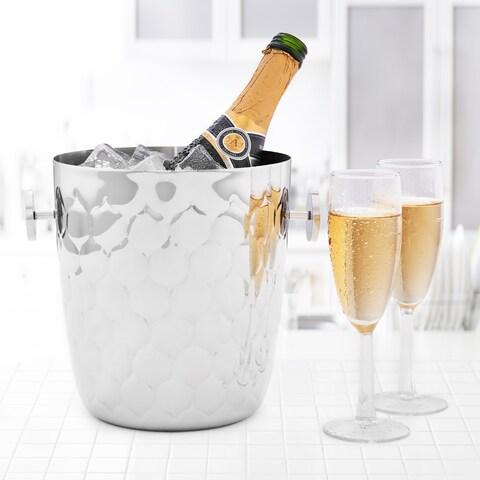 Avante Embossed Stainless Steel Champagne Bucket, 5 Qt.