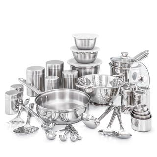 36 Pc. Kitchen in a Box Stainless Steel Cookware Set