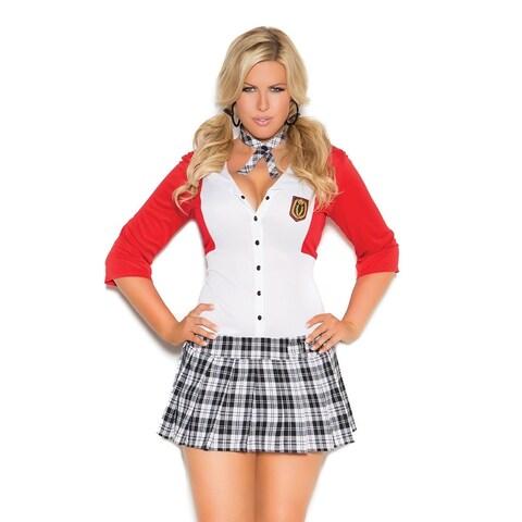 Elegant Moments Plus Size 2-piece Schoolgirl Costume