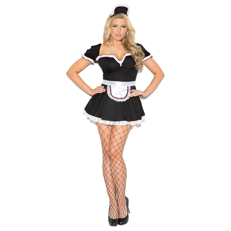 Elegant Moments Plus Size 3-piece Maid Costume by  Coupon