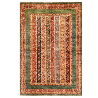 Herat Oriental Afghan Hand-knotted Tribal Super Kazak Wool Rug (4' x 5'11)