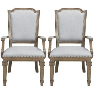 Vintage 18th Century French Neoclassic Design Dining Arm Chairs (Set of 2)
