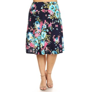 Women's Plus Size Floral Skirt