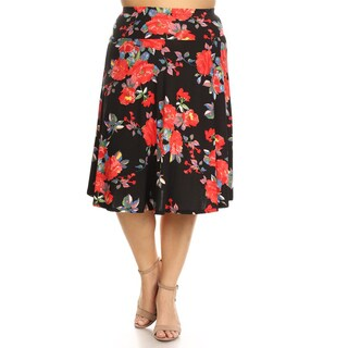 Women's Plus Size Floral Skirt