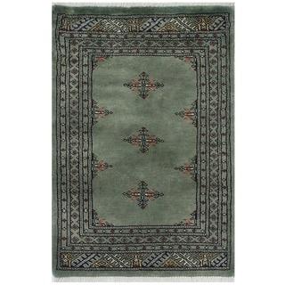 Herat Oriental Pakistani Hand-knotted Bokhara Wool Rug (2'2 x 3'2)
