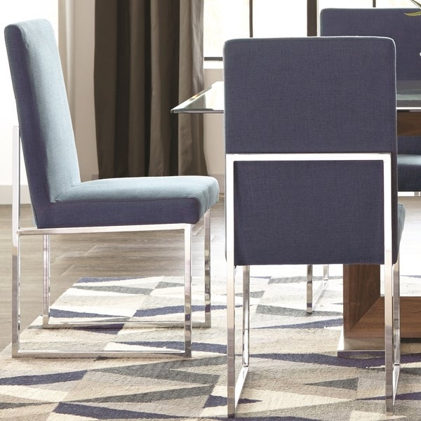 Shop Modern Floating Design Blue Dining Chairs Set Of 48 Free New How Much To Ship Furniture Plans