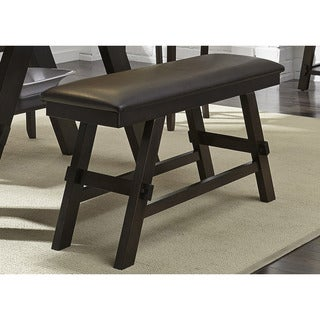 Espresso Light and Dark Finish 24-inch Counter Bench