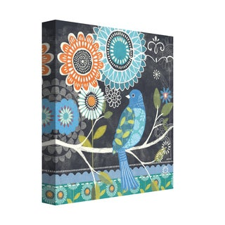 Portfolio Canvas Décor Chalk Bird Blue by Jennifer Brinley Wrapped Canvas Wall Art