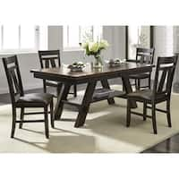 Espresso Light and Dark 40x90 Butterfly Leaf Dinette Table