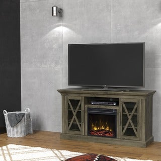 "Cottage Grove TV Stand for TVs up to 60"" with Electric Fireplace, Spanish Gray"