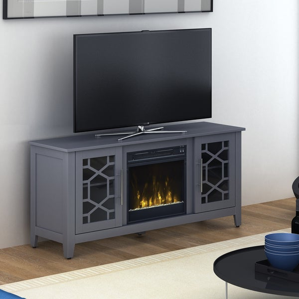 Clarion Fireplace TV Stand for TVs up to 60 inches, Cool Gray