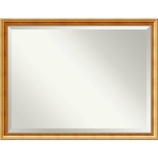 Wall Mirror Oversize Large, Townhouse Gold 44 x 34-inch