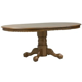 Nostalgia Medium Oak 42x42 Round Pedestal Dinette Table