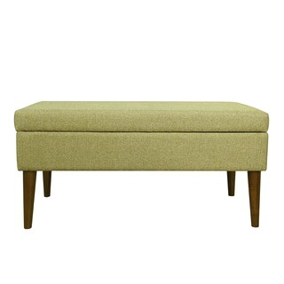 HomePop Mid Century Storage Bench - Citron Green