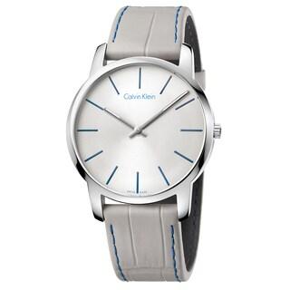Calvin Klein Men's City Stainless Steel Grey Swiss Quartz Watch