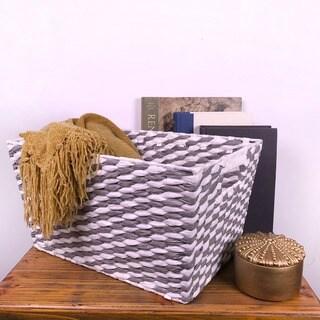 Tapered Rectangular Paper Rope Basket (6-Pack)