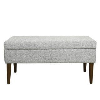 HomePop Mid Century Storage Bench - Ash Grey