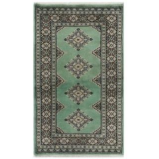 Herat Oriental Pakistani Hand-knotted Bokhara Wool Rug (2'4 x 3'10)