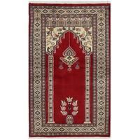 Handmade Herat Oriental Pakistani Bokhara Wool Rug - 2'8 x 4'3 (Pakistan)