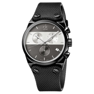 Calvin Klein Men's Eager Stainless Steel Black PVD Coated Grey