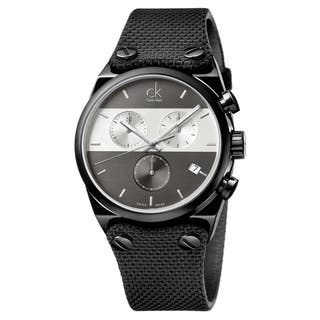 Calvin Klein Men's Eager Stainless Steel Black PVD Coated Grey|https://ak1.ostkcdn.com/images/products/15616712/P22050210.jpg?impolicy=medium