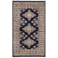 Herat Oriental Pakistani Hand-knotted Bokhara Wool Rug (2'6 x 4'4)