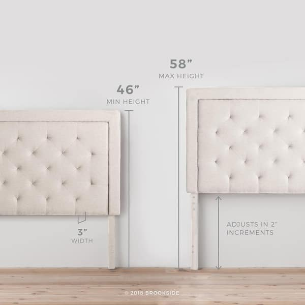 best sneakers fb4b5 786f3 Shop BROOKSIDE Upholstered Headboard with Diamond Tufting ...