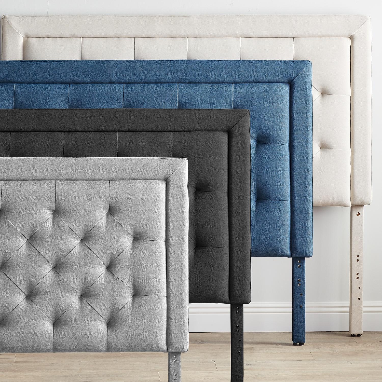 brookside upholstered headboard with diamond tufting ebay. Black Bedroom Furniture Sets. Home Design Ideas