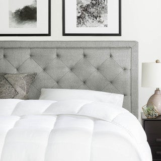 BROOKSIDE Upholstered Headboard with Diamond Tufting - Stone and Charcoal Color Options
