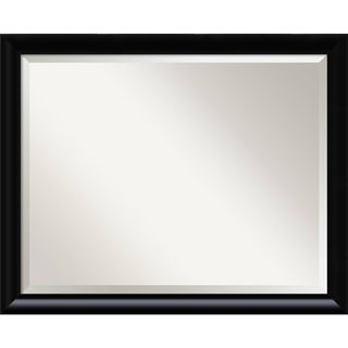 Bathroom Mirror Large, Steinway Black Scoop 31 x 25-inch