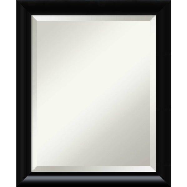 Bathroom Mirror Medium, Steinway Black Scoop