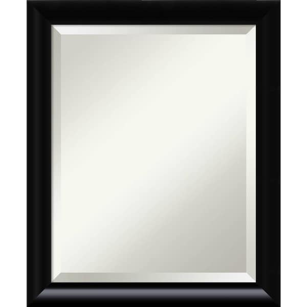 Bathroom Mirror Medium, Steinway Black Scoop 19 x 23-inch