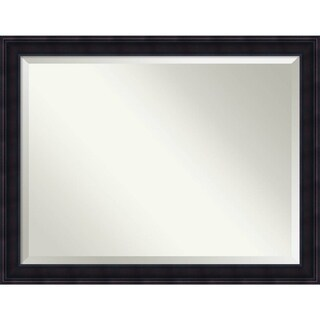 Bathroom Mirror Oversize Large, Annatto Mahogany 45 x 35-inch