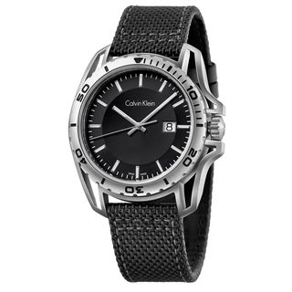 Calvin Klein Men's Earth Stainless Steel Black Swiss Quartz Watch