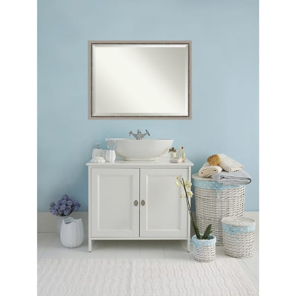 Shop Bathroom Mirror Oversize Large, Bel Volto Silver 43 x ...