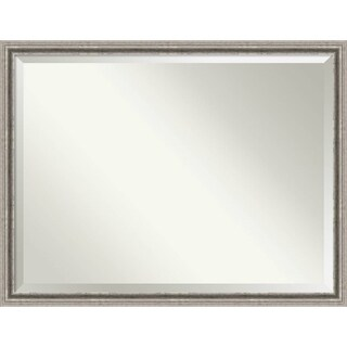 Bathroom Mirror Oversize Large, Bel Volto Silver 43 x 33-inch
