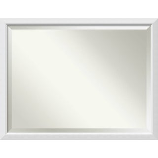 Bathroom Mirror Oversize Large, Blanco White 44 x 34-inch