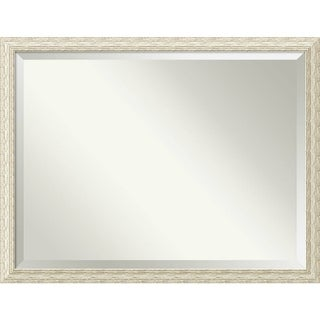 Bathroom Mirror Oversize Large, Cape Cod White Wash 44 x 34-inch
