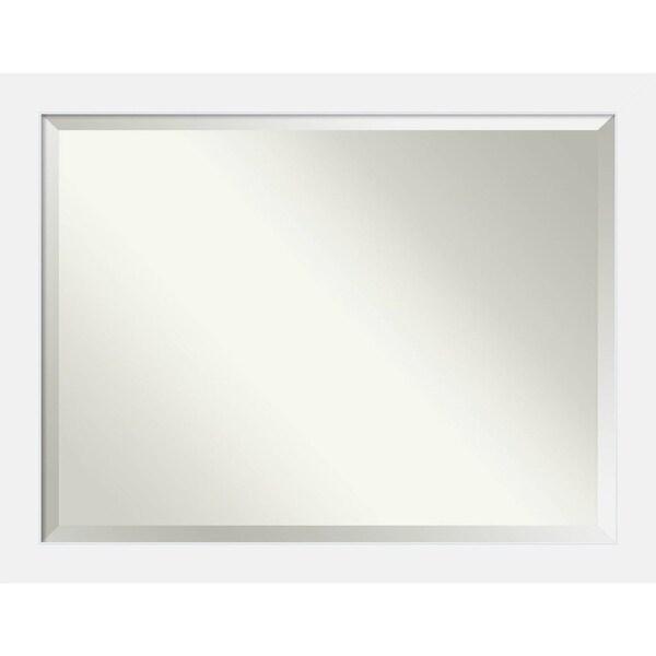 Bathroom Mirror Oversize Large, Corvino White 45 x 35-inch - 34.88 x 44.88 x 0.866 inches deep