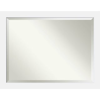 Bathroom Mirror Oversize Large, Fits Standard 36-inch to 48-inch Cabinet, Corvino White 45 x 35-inch