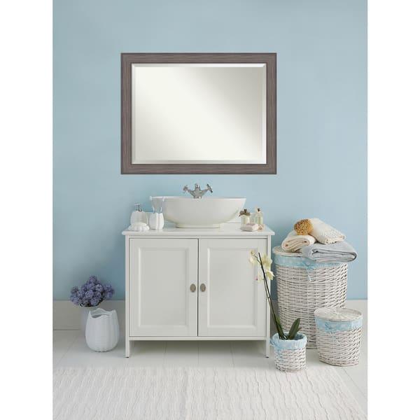 Shop Bathroom Mirror Oversize Large Country Barnwood 46 X 36 Inch