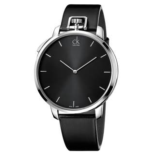 Calvin Klein Men's Leather Stainless Steel Black Swiss Quartz Watch https://ak1.ostkcdn.com/images/products/15616743/P22050219.jpg?impolicy=medium